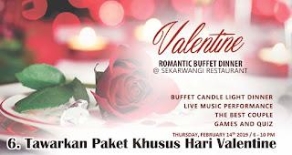 Buat Dan Tawarkan Paket Khusus Hari Valentine merupakan salah satu tips pikat pelanggan di hari valentine