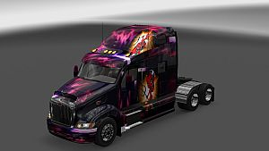 Devil paint job for Peterbilt 387