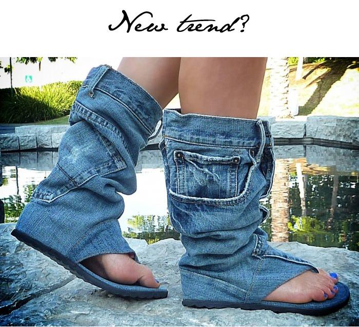 jean sandal boot