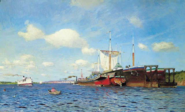 Исаак Ильич Левитан - Свежий ветер. Волга. 1895