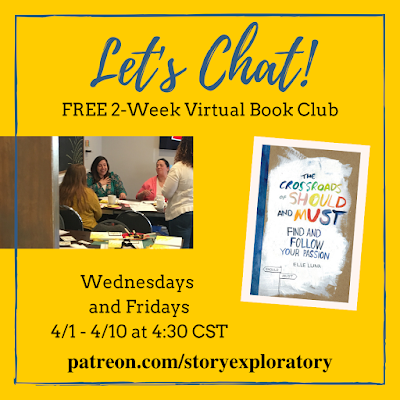 story exploratory, book club, free book club, crossroads of should and must, virtual book club