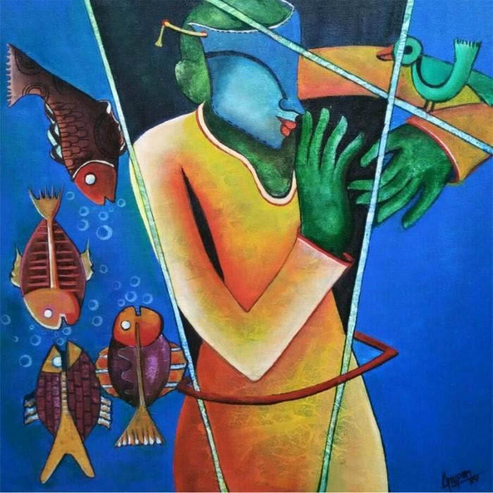 Яркие цвета и поток свободных мазков. Anupam Pal 2
