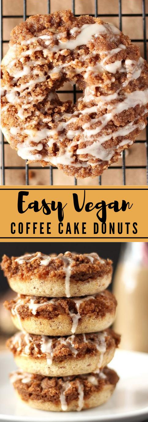 EASY VEGAN COFFEE CAKE DONUTS #coffee #cakes #desserts #easy #vegan