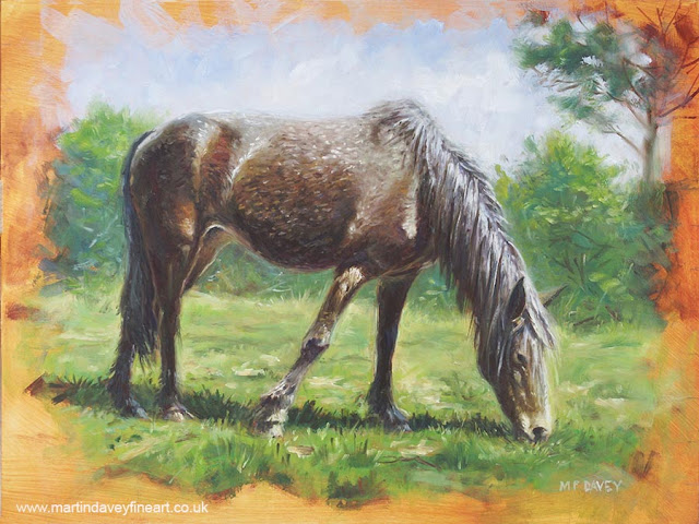 artist standing horse new forest