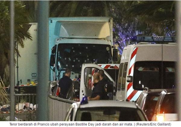 Serangan Ngeri di Prancis Ubah Bastille Day Jadi Darah dan Air Mata
