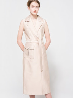 C/MEO Collective white walls midi trench dress with pocket detail and belt