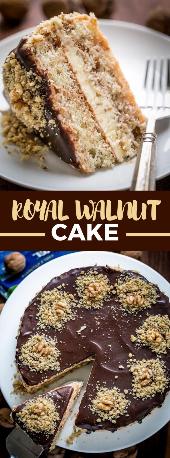 Royal Walnut Cake #chocolate #desserts