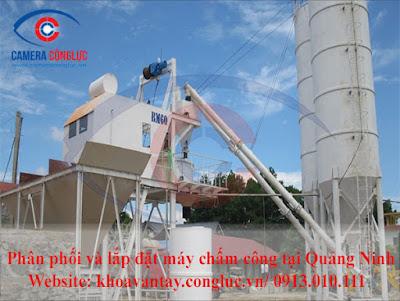 Lắp đặt máy chấm công vân tay tại công ty bê tông Thăng Long - Hạ Long - Quảng Ninh.