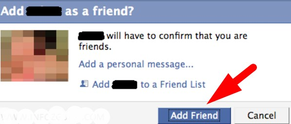 can not send friend request on facebook