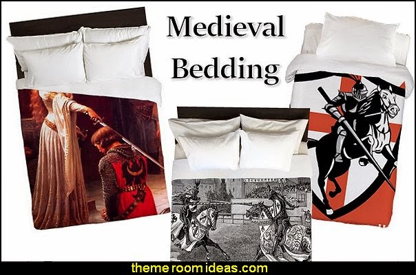 medieval knigts castle dragons bedding-medieval knigts castle dragons duvet  bedding
