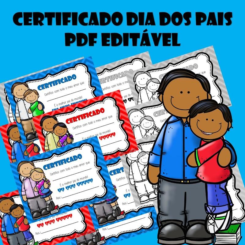 CERTIFICADO DIA DOS PAIS - PDF EDITÁVEL