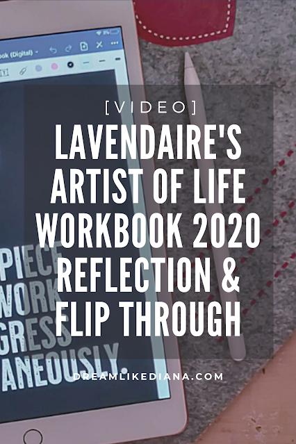 lavendaire's aol workbook reflection video