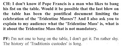 Pope interview