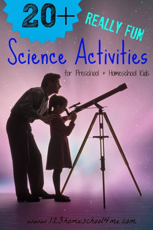 20 fun hands on science activities for preschool and homeschool kids