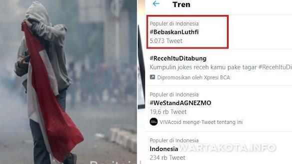 Pembawa Bendera Saat Demo Akan Diadili, Tagar #BebaskanLuthfi Menggema