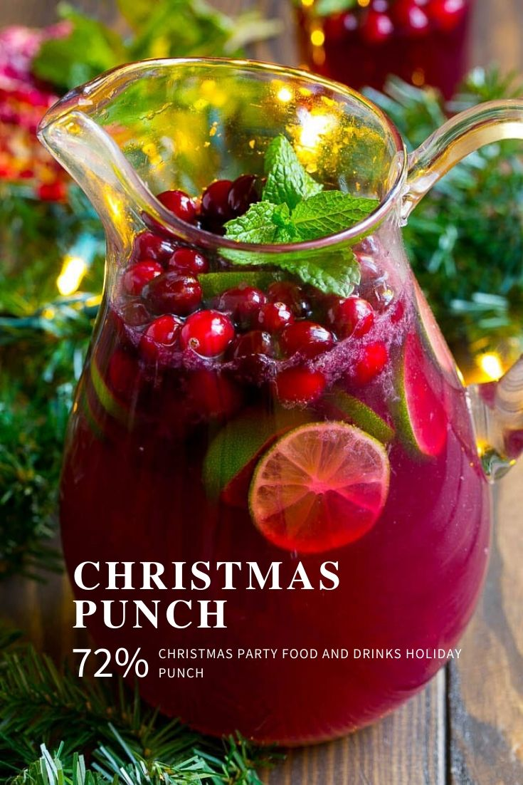 christmas party food and drinks holiday punch