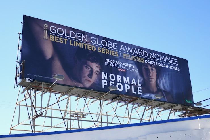 Normal People Golden Globe nominee billboard