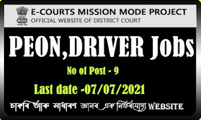 CJM Charaideo Recruitment 2021 - Driver,Peon,Chowkidar