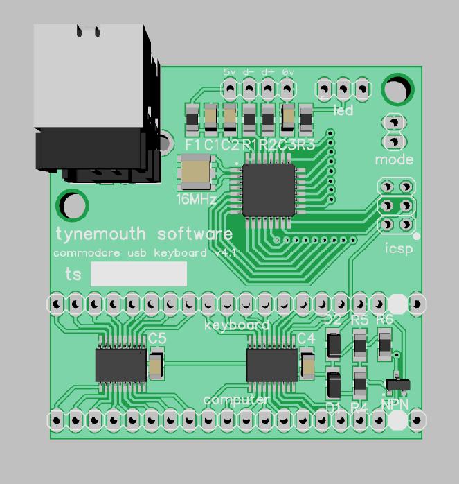 Tynemouth Software: Commodore 64 USB keyboard kits