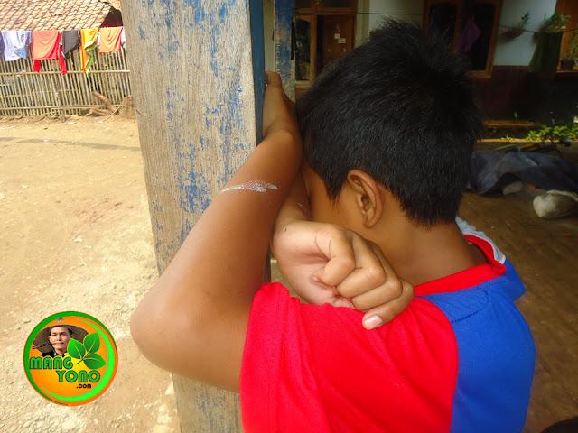 Permainan tradisional ucing sumput, petak umpet anak - anak sunda