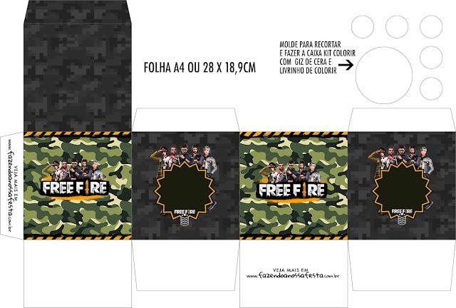 Free Fire: Free Printable Boxes.