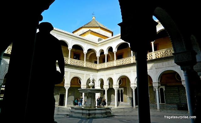 Pátio da Casa de Pilatos, palácio dos Duques de Medinaceli em Sevilha