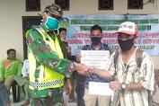 Sertu Umarudin Pasaribu Dampingi Penyaluran BLT-DD Tahap II di Desa Suo-Suo