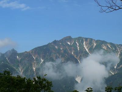 唐松岳と左端に大黒岳。