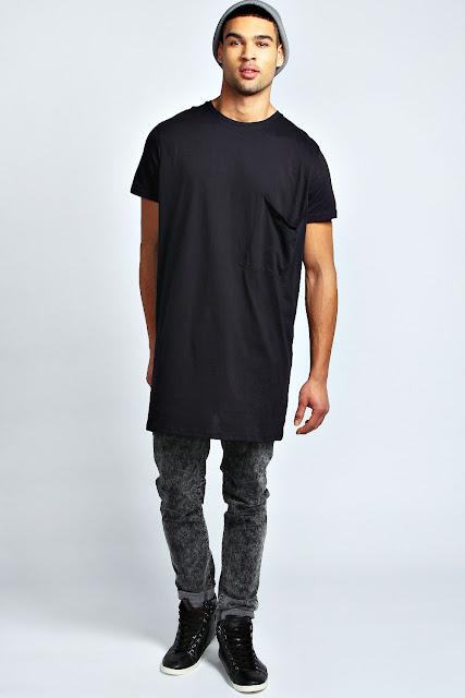 LongLine T-Shirt e Oversized Tee. como usar camiseta masculina,  look masculino, como usar calça jeans masculina, como usar tenis preto masculino
