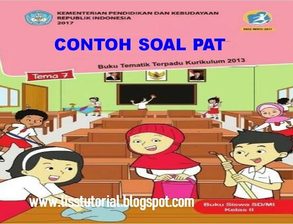 Contoh Soal UKK/PAT Tema 7 Semester 2 Kelas 2 SD/MI Kurikulum 2013