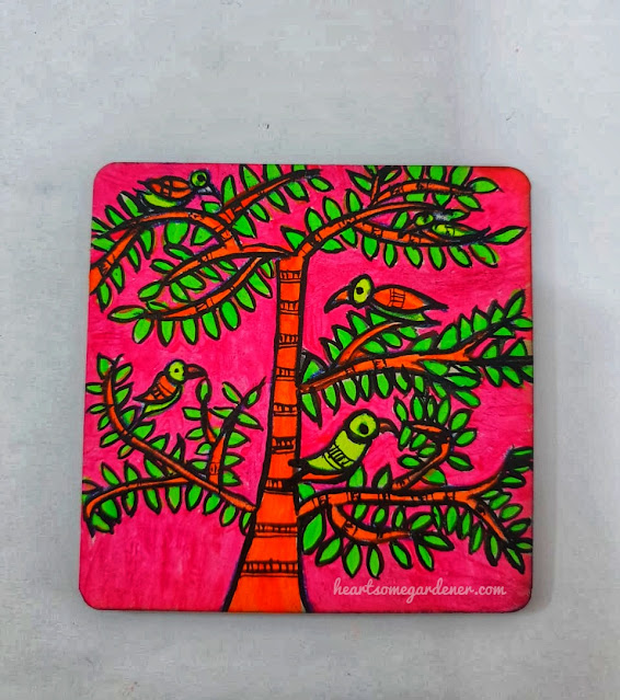 Traditional  coaster paintings