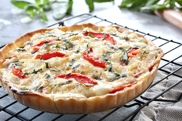 Cheesy Tomato and Onion Tart