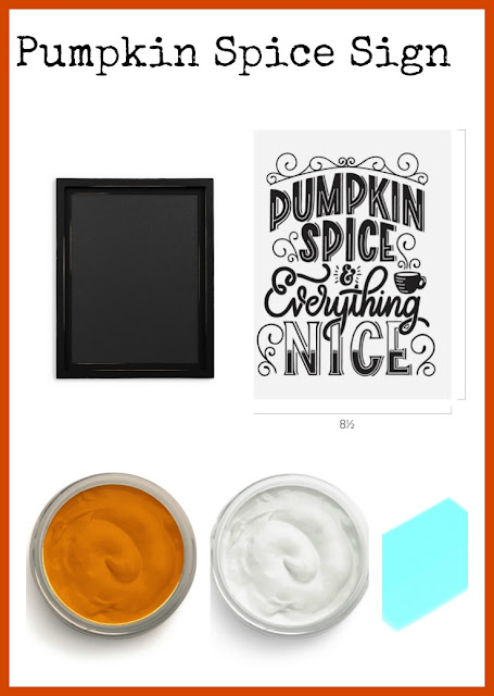 Vintge Paint and more... Chalk Couture items used to make a cute Fall vintage farmhouse sign