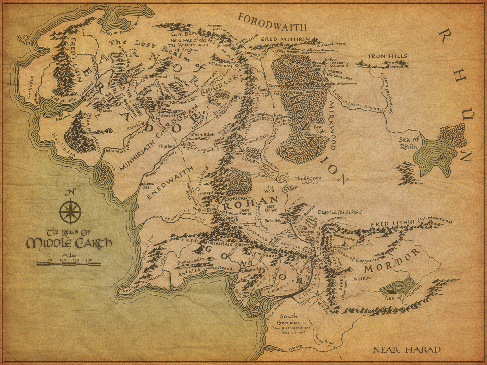 Did Maps In Middle Earth Have West: How Far Did Frodo Go?