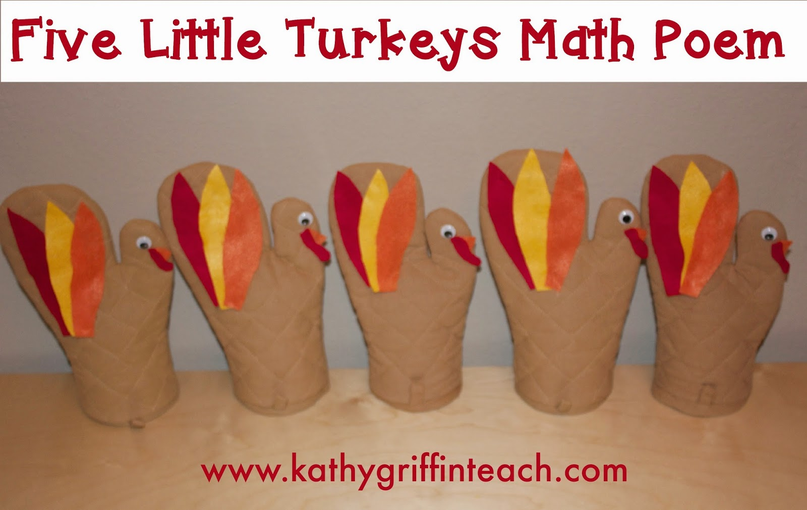 Five Little Turkeys Worksheet