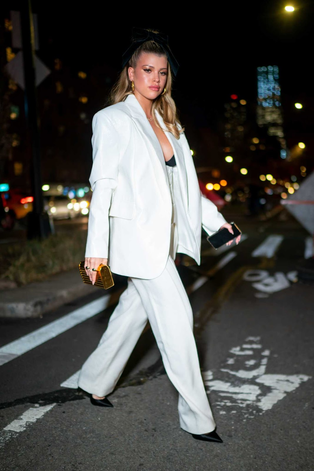 Sofia Richie Looks Astonishing in White Outfit