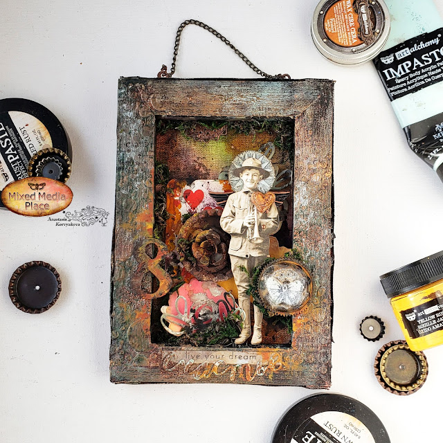 @nastyalena #mixedmedia #alteredart #finnabairproducts