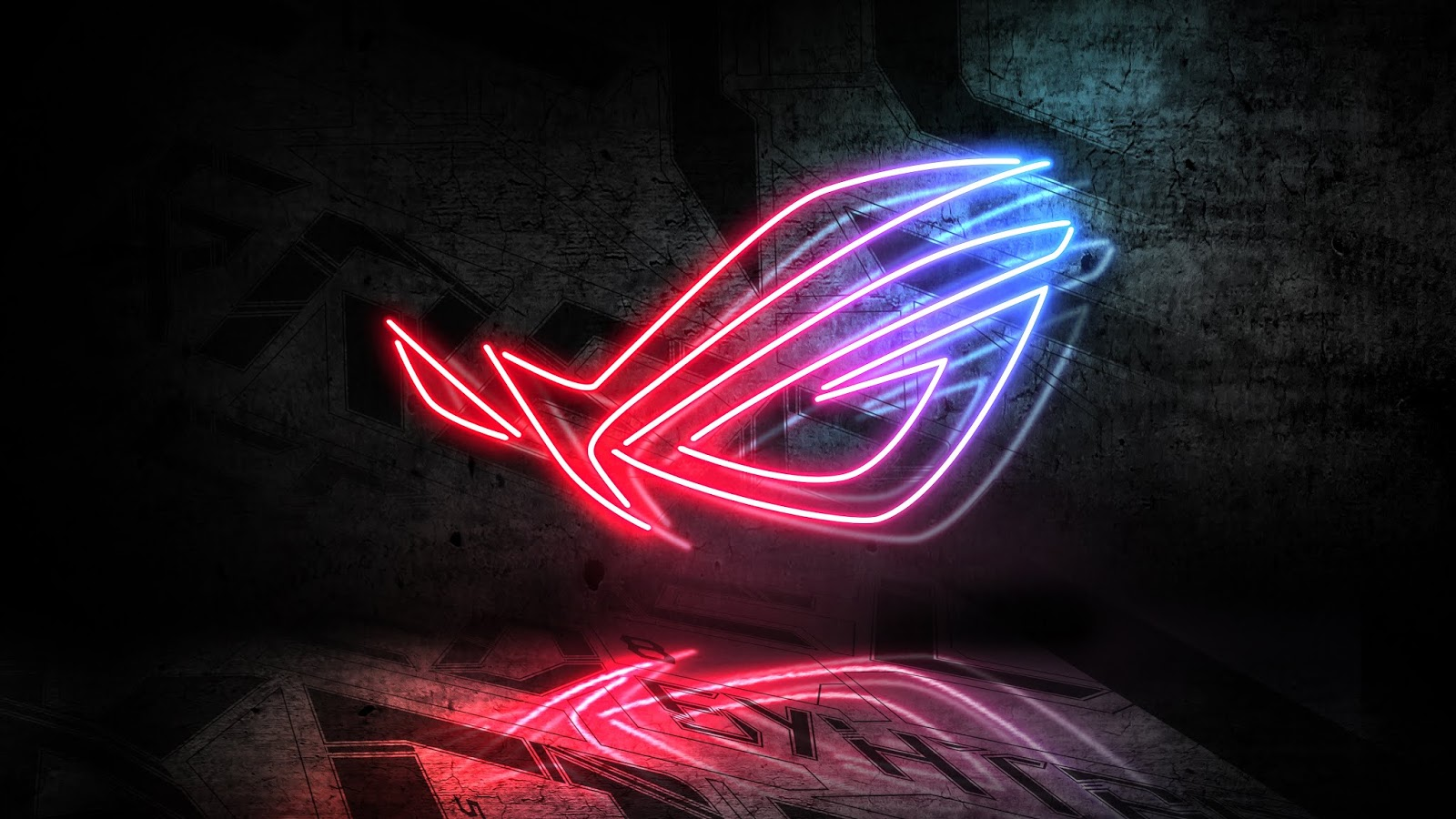 Asus, Neon Sign, Republic of Gamers, Neon Light, 4K, Technology