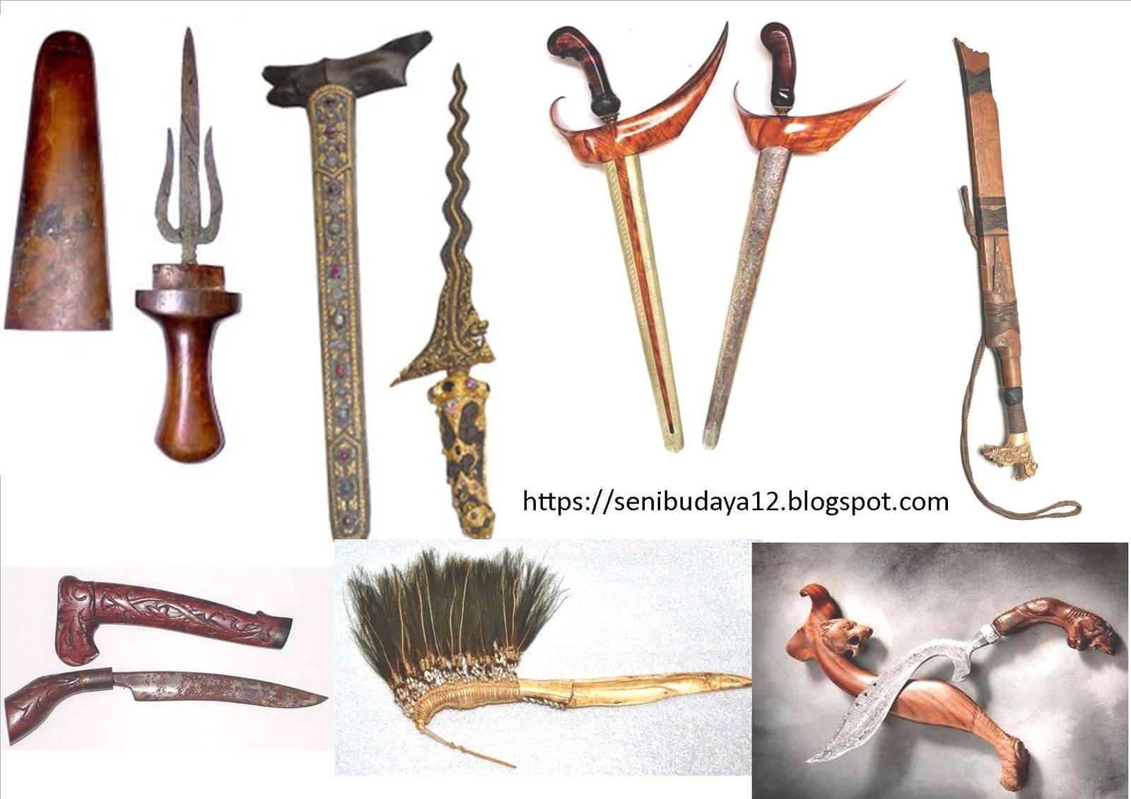 Senjata Tradisional Daerah 34 Provinsi Di Indonesia Seni Budaya