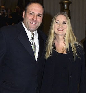 Marcy Wudarski with her late ex-husband James Gandolfini