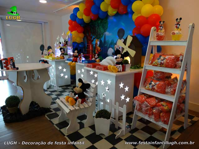 Mesa decorativa tema do Mickey Mouse - Festa infantil