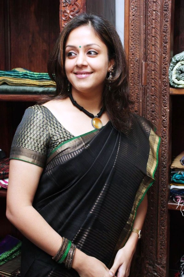 telugu cinema: jyothika in saree photos