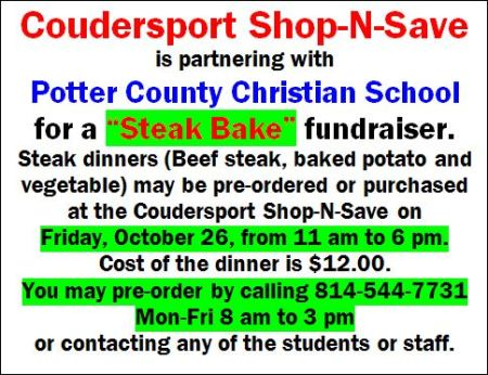 10-26 Steak Bake, Potter County Christian School