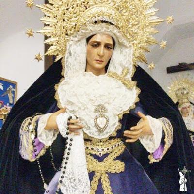 La Virgen de los Dolores de la Línea de la Concepción (Cádiz) sufrió un robo, aunque quien lo sustrajo lo devolvió