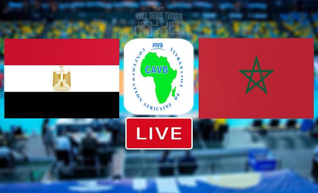 بث مباشر   مشاهدة مباراة منتخب المغرب ضد منتخب مصر في البطولة الافريقية للكرة الطائرة - Match Volleyball African Championship