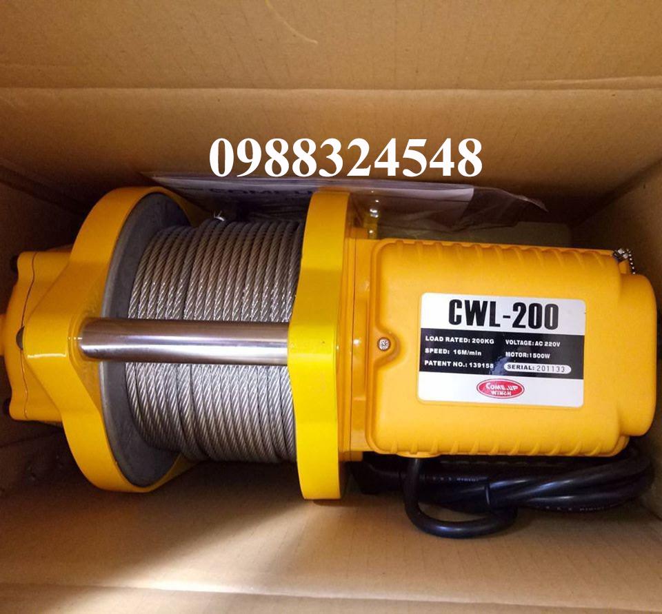Tời cáp điện comeup CWL-200 200kg