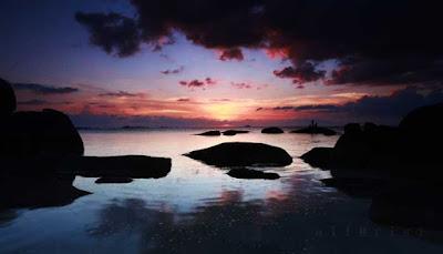 Sunset Pantai Tanjung Tinggi