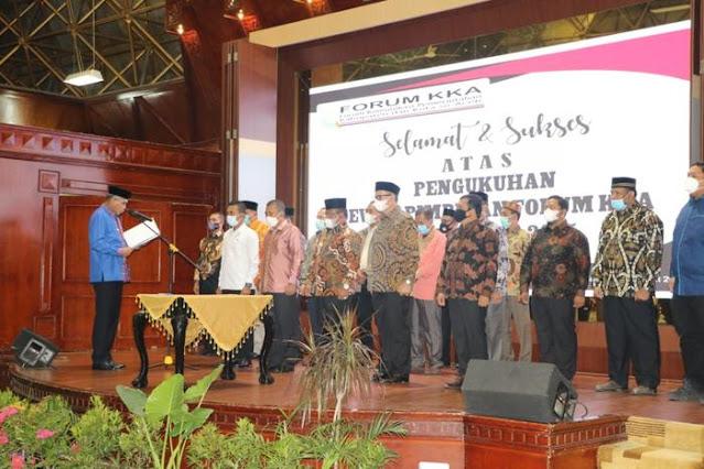 Wakil Bupati Pidie Jaya Dikukuhkan Sebagai Wakil Koordinator II Lintas Timur F-KKA