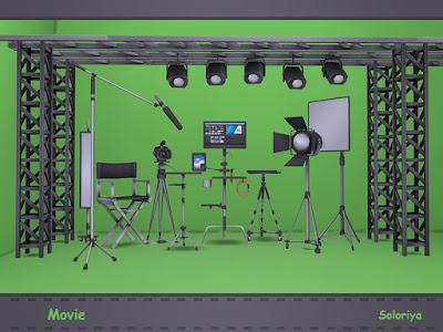 Movie Кино для The Sims 4 Все, что вам нужно для вашей киностудии. Включает в себя 13 декоративных предметов. Черный, серый и коричневый цвета, 1-3 цветовых вариации для каждого объекта. Предметы в наборе: - три стойки - прожектор - светодиодная панель - софтбокс - видеокамера - штатив - микрофон - три решетчатые балки - режиссерское кресло. Автор: soloriya