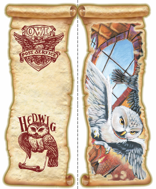 Harry Potter Bookmarks : My owl barn free harry potter and hedwig the bookmarks